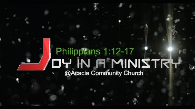 Joy in a ministry