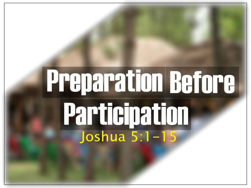 preparation b4 participation