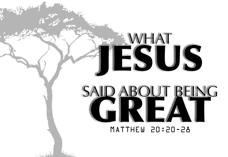 what jesus said about being great