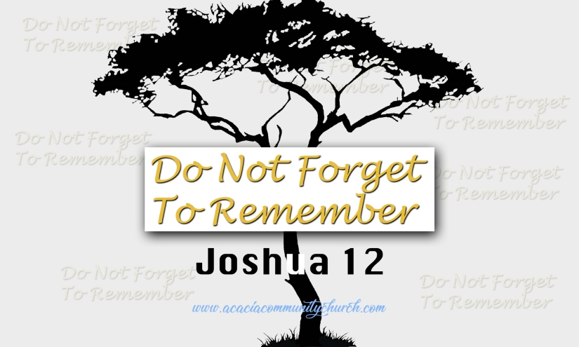do not forget to remember