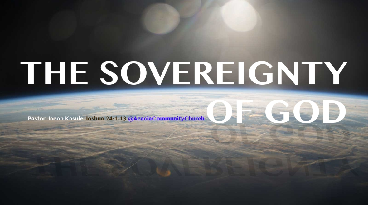 THE SOVEREIGNTY GOD